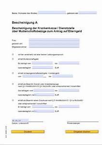 Elternzeit Berechnen 2015 : formular mutterschaftsgeld b rozubeh r ~ Themetempest.com Abrechnung