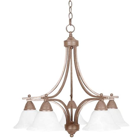Pewter Chandelier by Sunset Lighting Martindell 5 Light Painted Pewter