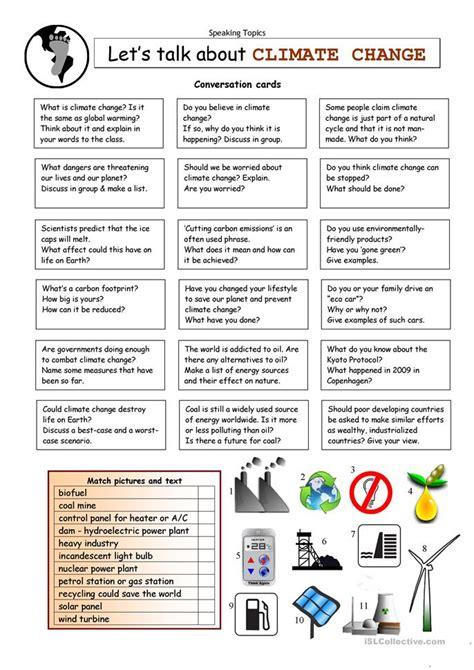 Let's Talk About Climate Change Worksheet  Free Esl Printable Worksheets Made By Teachers