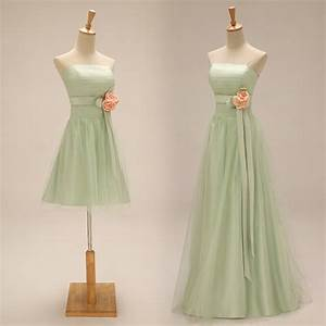 Aliexpress.com : Buy Light Green Bridesmaid Dresses Long ...