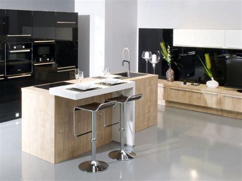 cuisine ouverte ilot cuisine gentleman cuisines aviva gt cuisine design avec