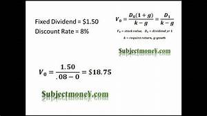 dividend discount model ddm constant growth dividend