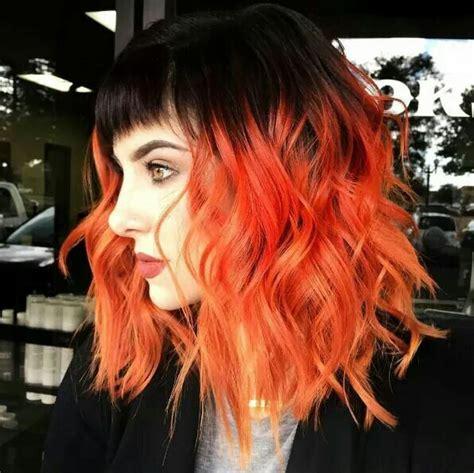 Best 25 Orange Ombre Hair Ideas On Pinterest Brown Hair