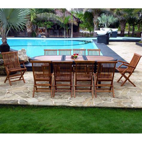 salon de jardin en teck wood en stock qaland com