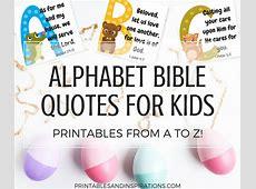 Free Printable Alphabet Memory Verses For Kids! Bible
