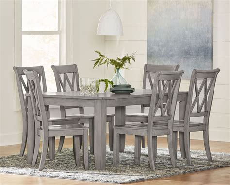 baldwin vintage grey rectangular dining room set