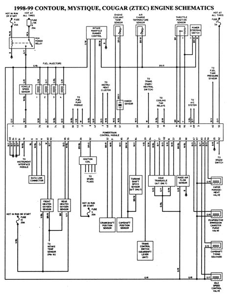 1997 Ford Contour Wiring Diagram by Wiring Diagrams 1998 Ford Contour