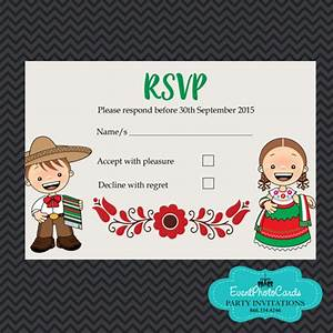 mariachi wedding invitations red green matching With wedding invitations and matching rsvp cards