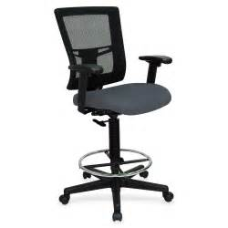 lorell 43101 breathable mesh drafting stool gray gray seat 25 quot x 15 quot x 27 quot overall dimension