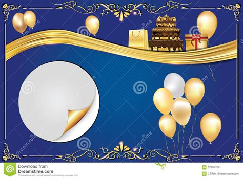 Comp Backgrounds Celebration Blue Background Stock Vector Illustration Of