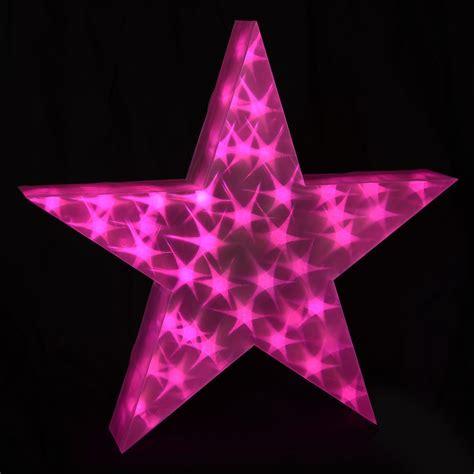 led star light holographic led light up decoration 50cm 3d