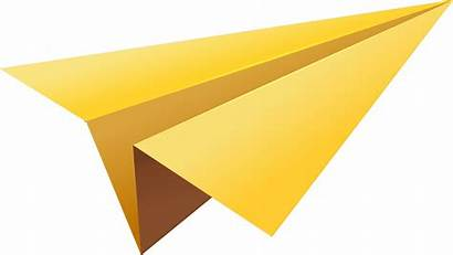 Paper Plane Yellow Clipart Transparent Flying Background