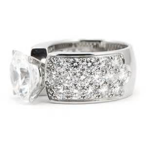 thick band engagement rings pave engagement ring wide band wixon jewelers