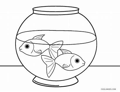 Fish Coloring Bowl Printable Peces Fishes Pet