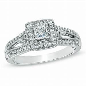 previously owned 1 2 ct tw princess cut diamond With previously owned wedding rings zales