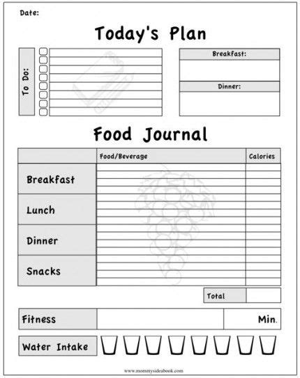 journal cuisine printable workout journal for myself to track my