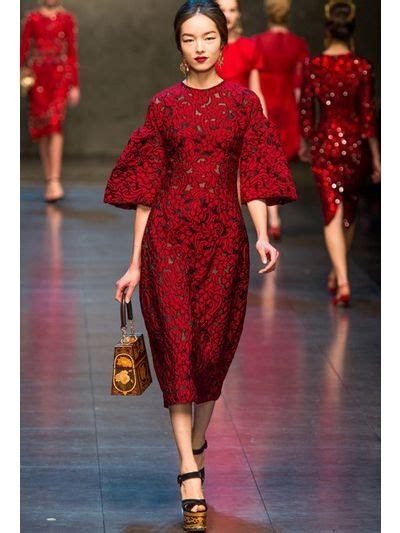 lyst dolce gabbana lace  tulle dress  red