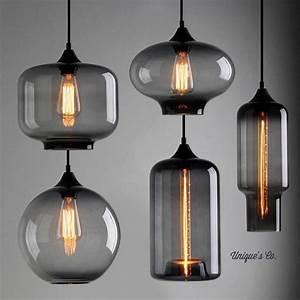 Art deco glass pendant light by unique s co