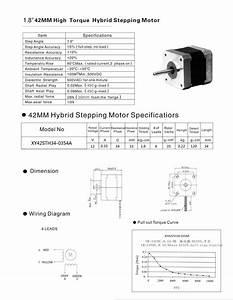 Stepper Motor - Nema-17 Size  Rev  12v 350ma Id