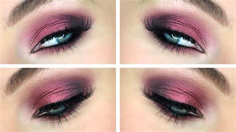 trucco smokey eyes bordeaux makeup tutorial youtube