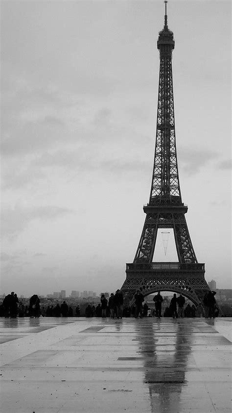 Black Wallpaper Iphone Eiffel Tower by Black And White Eiffel Tower Smartphone Hd Wallpapers
