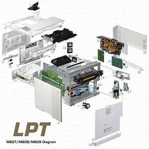 Parts Diagram For Laserjet M607  M608  M609 Printer