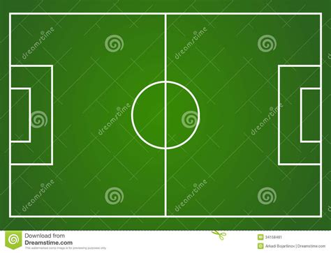 football field clipart vector football field stock image image 34158481