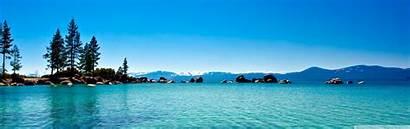 California Tahoe Wide Lake Dual Desktop Ultra