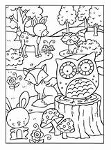 Coloring Woodland Pages sketch template