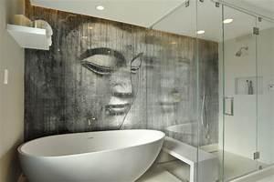 Bilder Bäder Einrichten : badezimmer ideen f r kleine b der mit fototapeten ~ Sanjose-hotels-ca.com Haus und Dekorationen