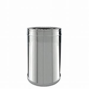 Conduit Cheminée Inox : tuyau double peau isol conduit de chemin e brico chemin e ~ Edinachiropracticcenter.com Idées de Décoration