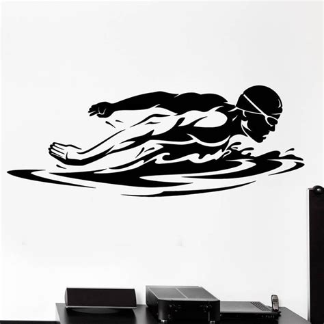 cheap wall decals popular swimming logos buy cheap swimming logos lots from