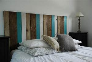 Faire Une Tête De Lit En Bois : tete de lit peinture cool tete de lit peinture with tete de lit peinture stunning tete de lit ~ Teatrodelosmanantiales.com Idées de Décoration