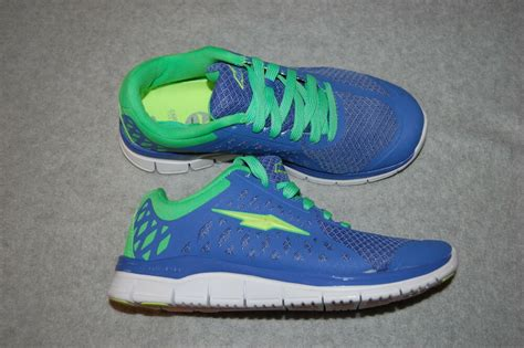 Womens Running Shoes Avia Burst Blue Lime Molded Insole 6