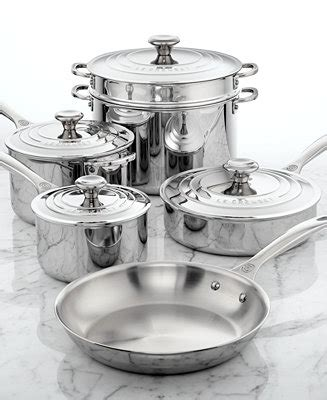 le creuset stainless steel  piece cookware set reviews