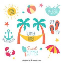 Summer labels Vector | Free Download