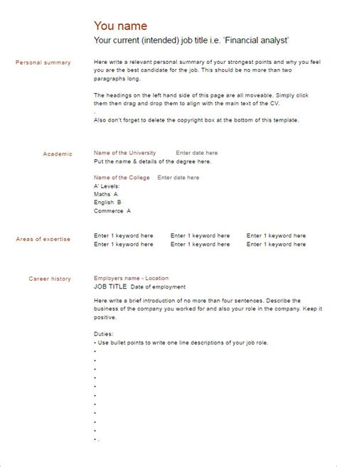 Word Format Resumes Free by 22 Blank Resume Templates Free Printable Pdf Word