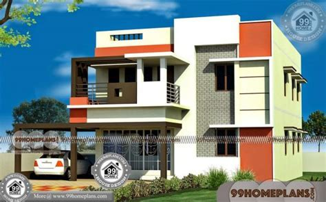Indian Duplex House Elevation Designs   175  Two Story