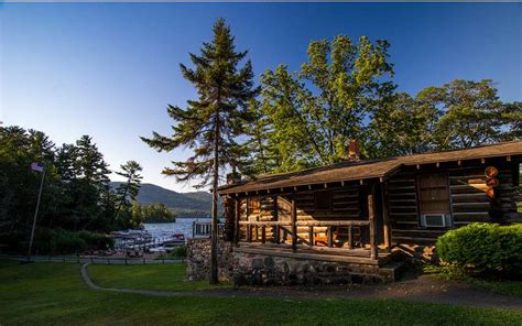 cabins on lake george alpine resort authentic log cabin resort on