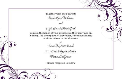 free microsoft word wedding invitation templates