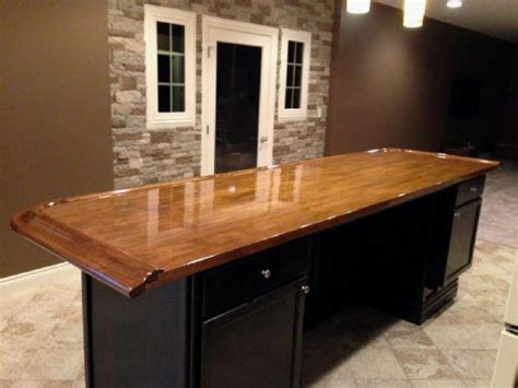 Home Bar Top by Finished Bar Photo Gallery Bar Rails Parts Hardwoods