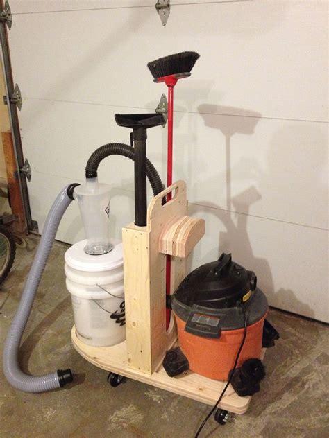 mobile cleanup unit dust collector cart  shop vac