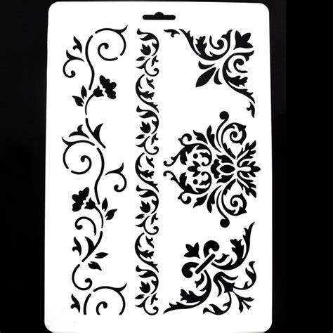 Templates For Stencils by 1 Pc Diy Craft Layering Stencils For Walls Scrapbooking