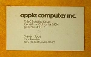 Steve jobs39 business card circa 1979 photo huffpost for Steve jobs business card