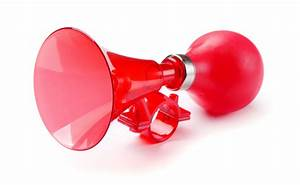 Red Bicycle Air Horn Stock Photo - Download Image Now