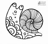 Snail Coloring Sea Pages Printable Getcolorings Print sketch template