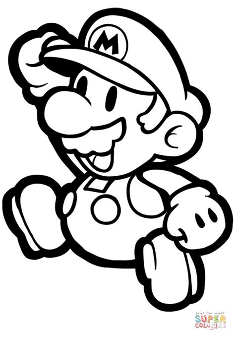 coloring paper paper mario coloring page free printable coloring pages
