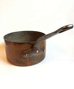 vintage french hammered copper sauce pan antique france tin lined ebay
