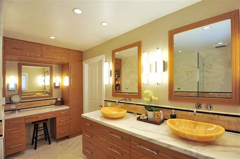 Master Bath Montecito with Honey Onyx Vessel Sinks