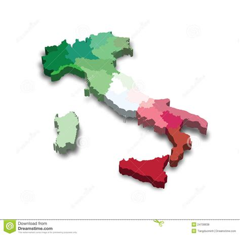 italy map flag stock vector italy province map stock illustration illustration of ital